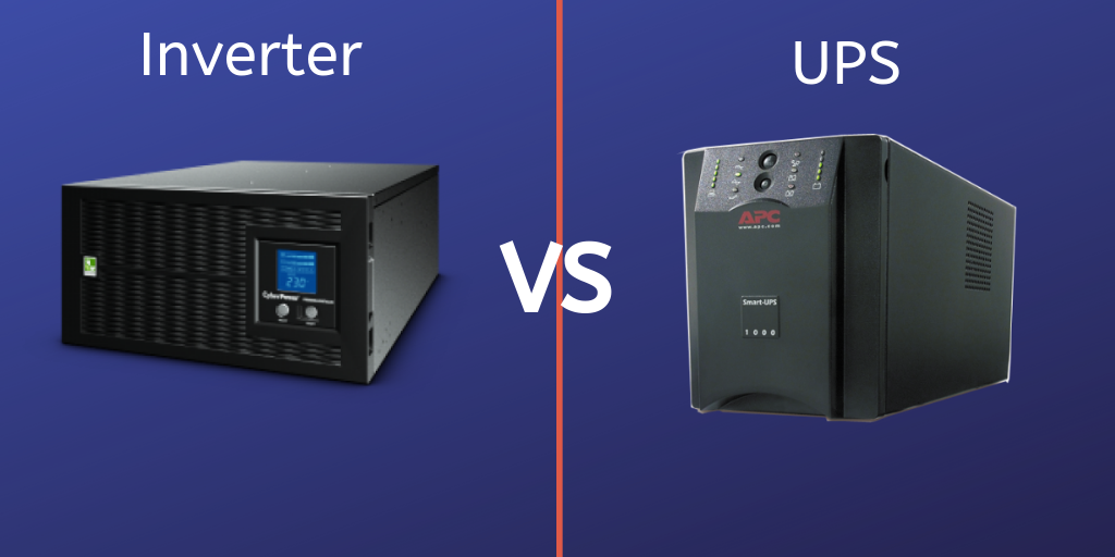 The difference between an uninterruptible power supply (UPS) and an inverter